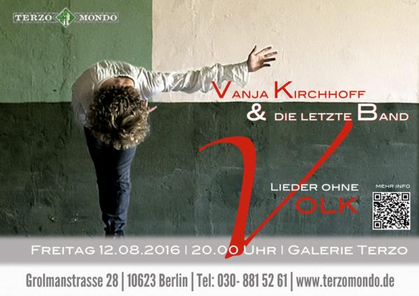plakat von Vanja kirchhoff im terzomondo