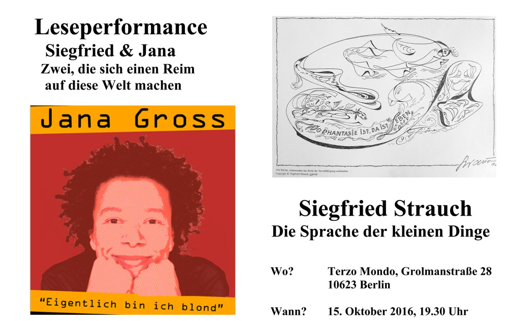 LesePerformance von jana gross und siegfried strauch