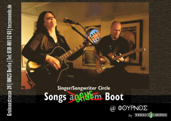 der Fournos by Terzomondo begrüsst die neue Singer Songwriter Reihe Songs ohne Boot