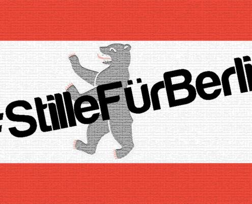 Flagge mit #StillefürBerlin